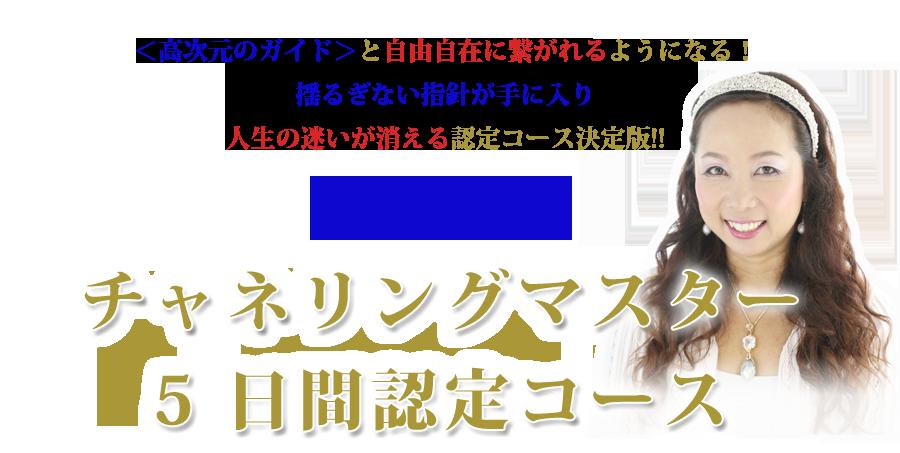 【穴口恵子 2016年11月15日〜】チャネリングマスター5日間認定コース